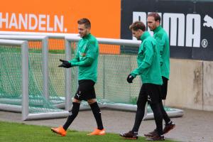 Abschlusstraining vor Inter Mailand